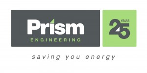 Prism Engineering logo, colour