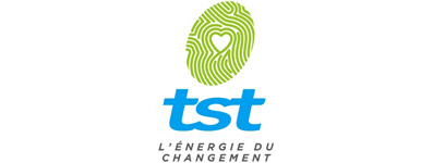 TST logo, colour, small