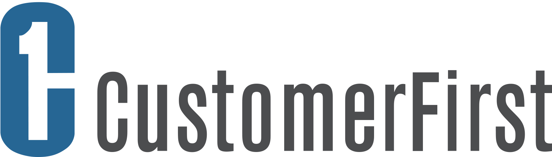 Customer First logo, colour