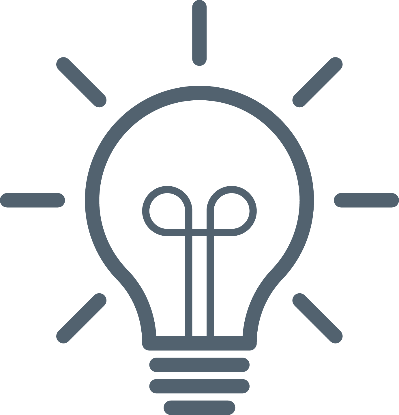 Lighbulb icon, grey