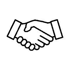 Handshake icon, black