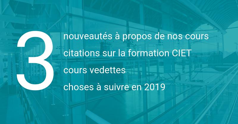 Bilan de l'année | Formation CIET 2018