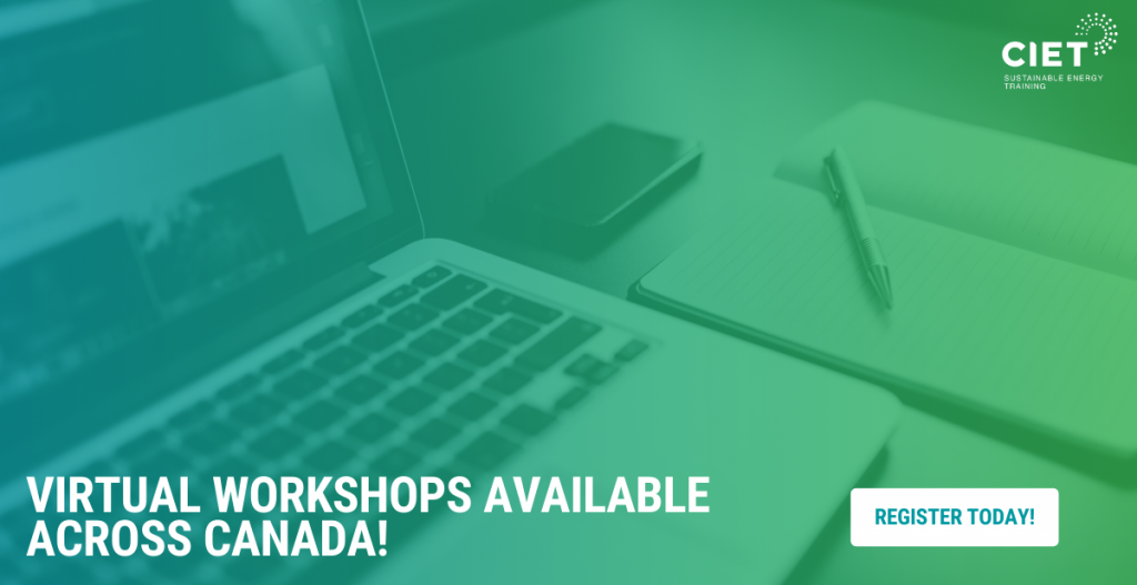 CIET Goes Virtual | Online Energy Efficiency Courses Available Across Canada