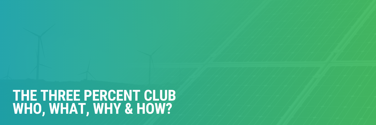 The Three Percent Club: Targeting A 3% Increase In Energy Efficiency