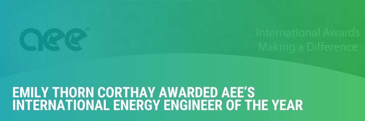 CIET Instructor Emily Thorn Corthay Awarded AEE's International Energy Engineer of the Year Prize
