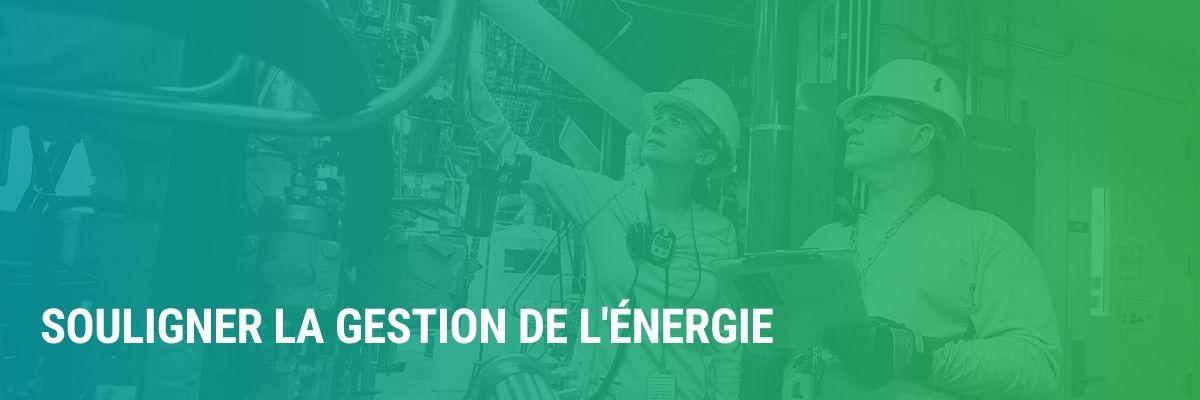 Souligner la gestion de l'énergie | Emplois, formation et sujets brûlants